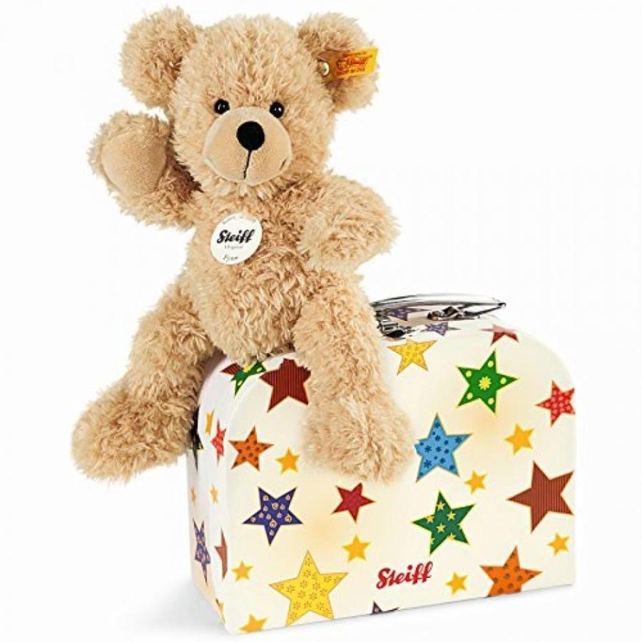 Steiff Fynn Teddy Bear in Suitcase ,Beige, 9.1
