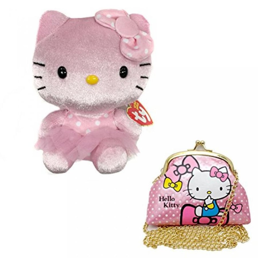 Hello Kitty ty ピンク Plush Doll -6.5inch + Side Hand Bag