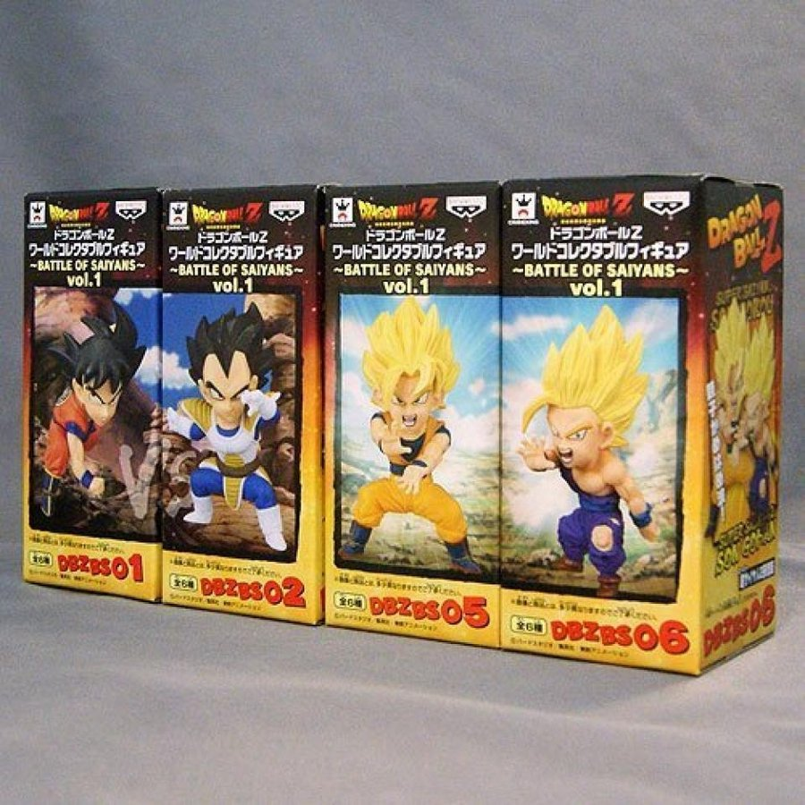 Dragon Ball Z World Collectible figures -BATTLE OF SAIYANS- vol.1 4 Set of Banpresto prize