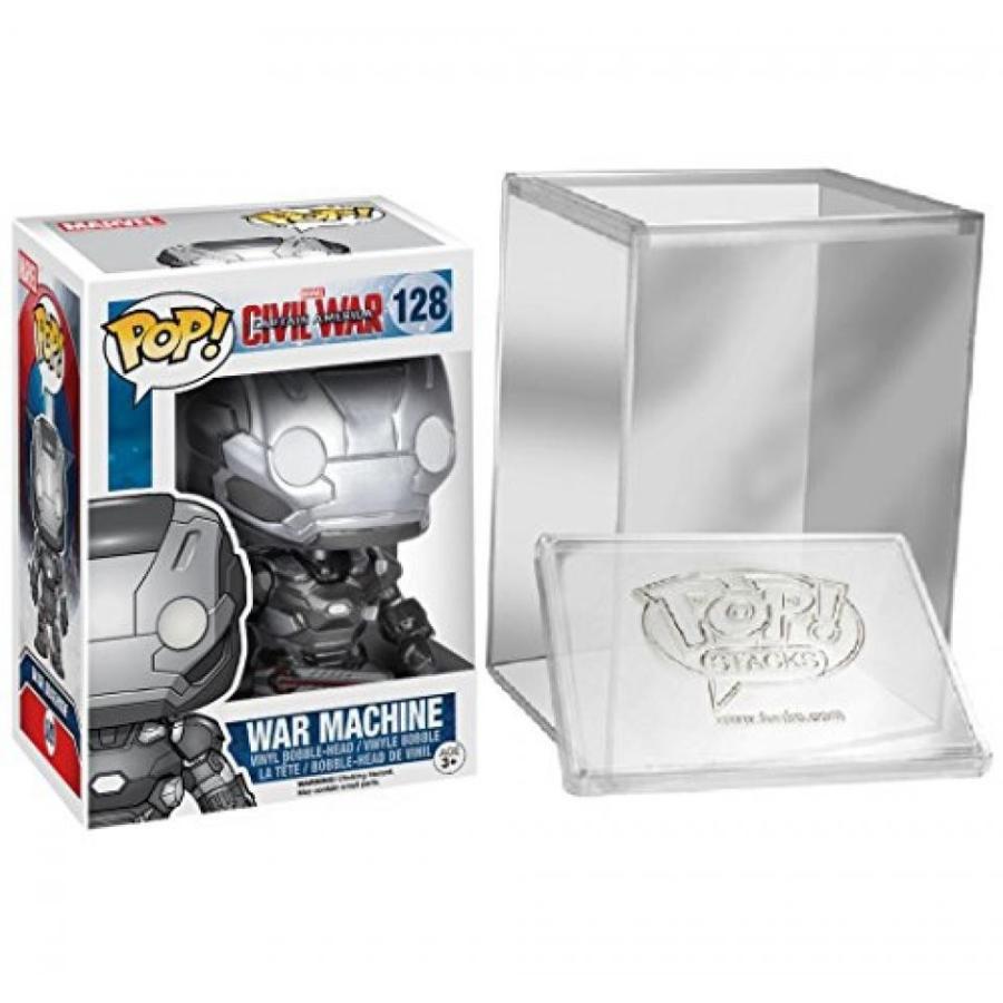 Funko Pop Marvel: Captain America Civil War: War Machine + FUNKO PROTECTIVE CASE