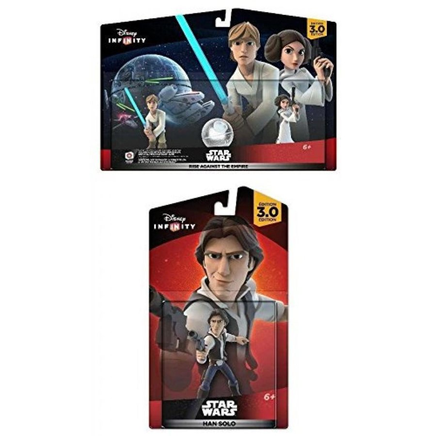 Disney Infinity 3.0 Star Wars: Luke & Leia Playset + Han Solo - Figure Set NEW