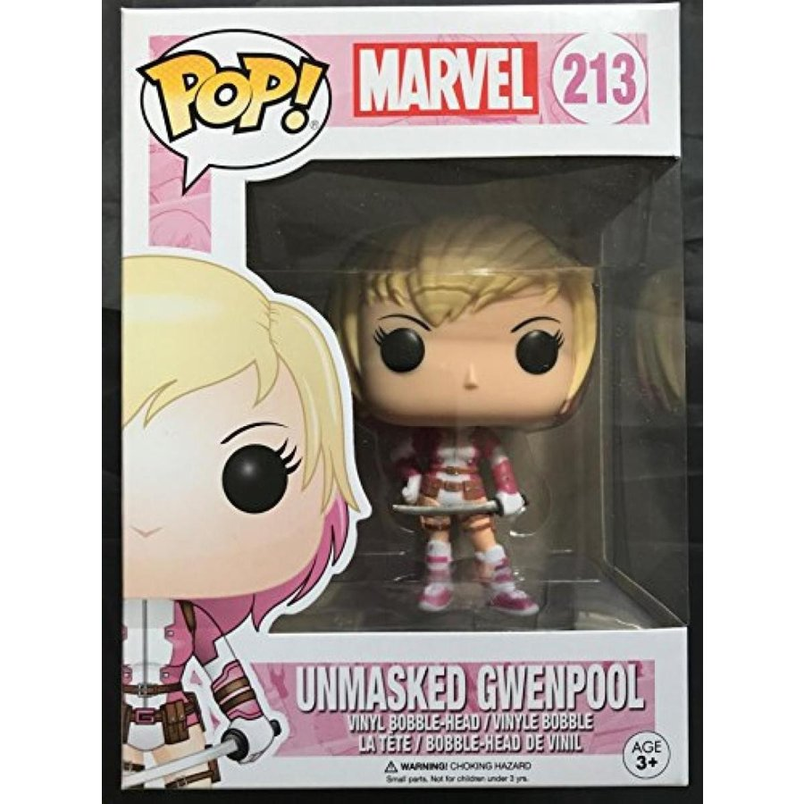Marvel Gwenpool Unmasked Exclusive Pop Vinyl Figure FUNKO 213