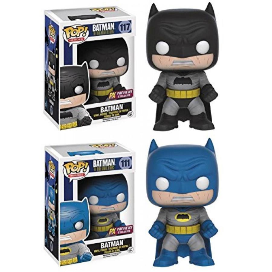 Funko POP! The Dark Knight Returns: Batman (黒) + Batman (青) Set NEW