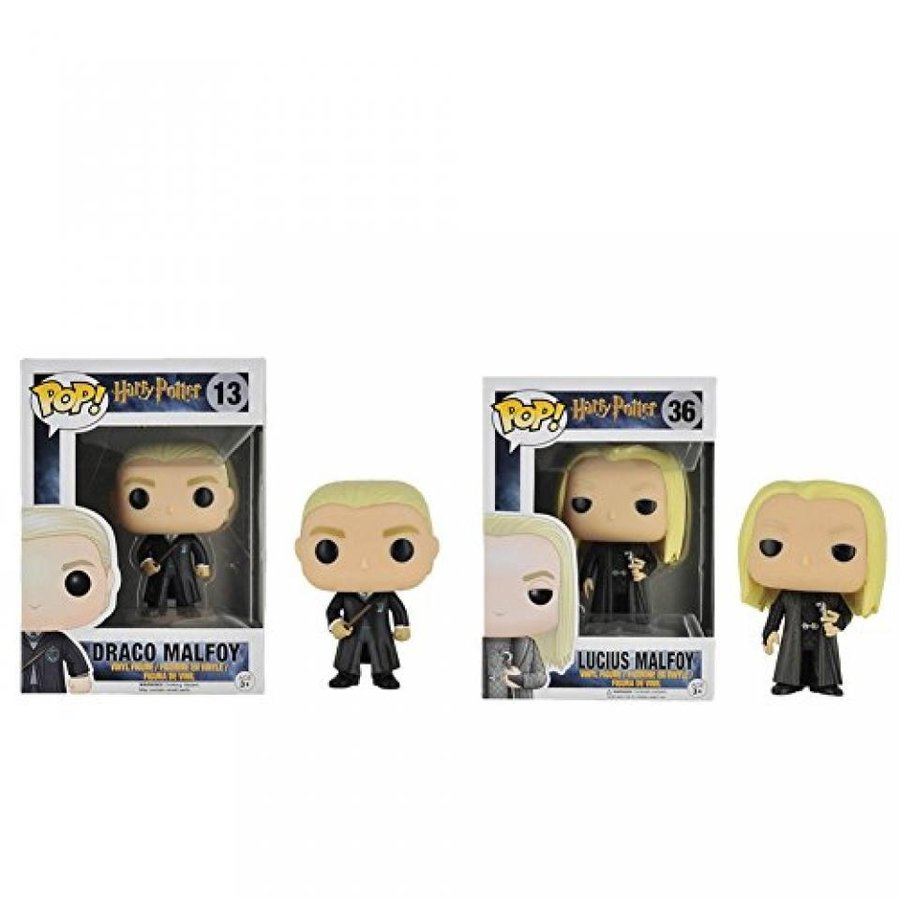 Funko POP Movies: Harry Potter Draco & Lucius Malfoy Action Figure Bundle (2 items)