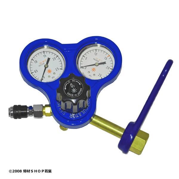 (カプラ付)酸素調整器 関東式 スパナ付「S-3KS-GV」 阪口製作所