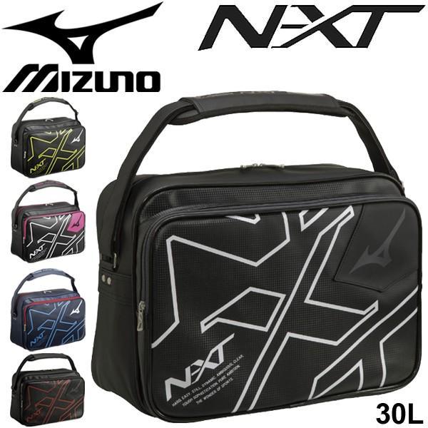 ショルダーバッグ メンズ レディース mizuno ミズノ N-XT エナメルバッグ Lサイズ 約10L/スポーツバッグ 斜めがけ ビッグロゴ ジム/33JS9002