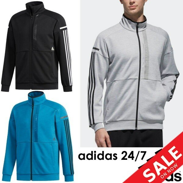 トレーニングウェア メンズ アウター adidas アディダス 24/7 ヘザー ウォームアップジャケット スウェット/スポーツウェア/FTL51