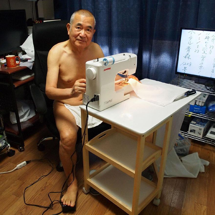 【1d】和田爺謹製越中褌「長寿」(夏用)高級白晒木綿 二枚組|wada-photo|13
