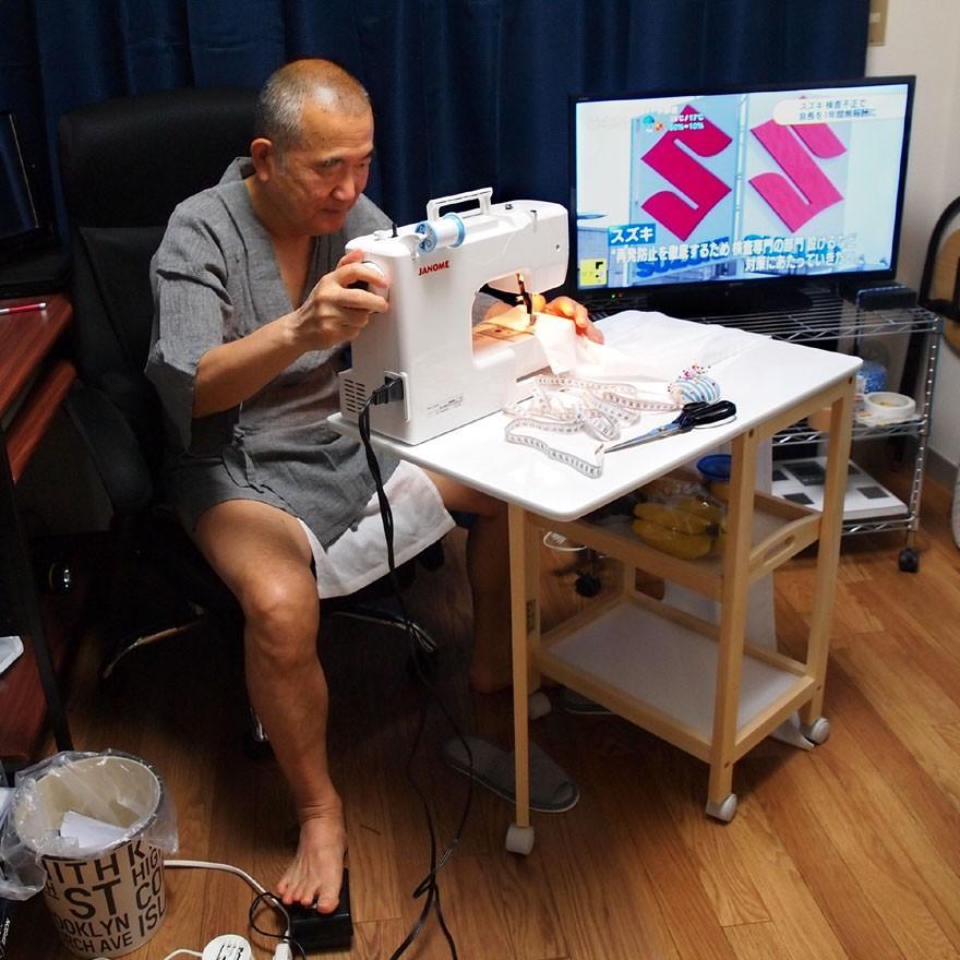 【1b】和田爺謹製越中褌「長寿」(Mサイズ)高級白晒木綿 二枚組 wada-photo 11