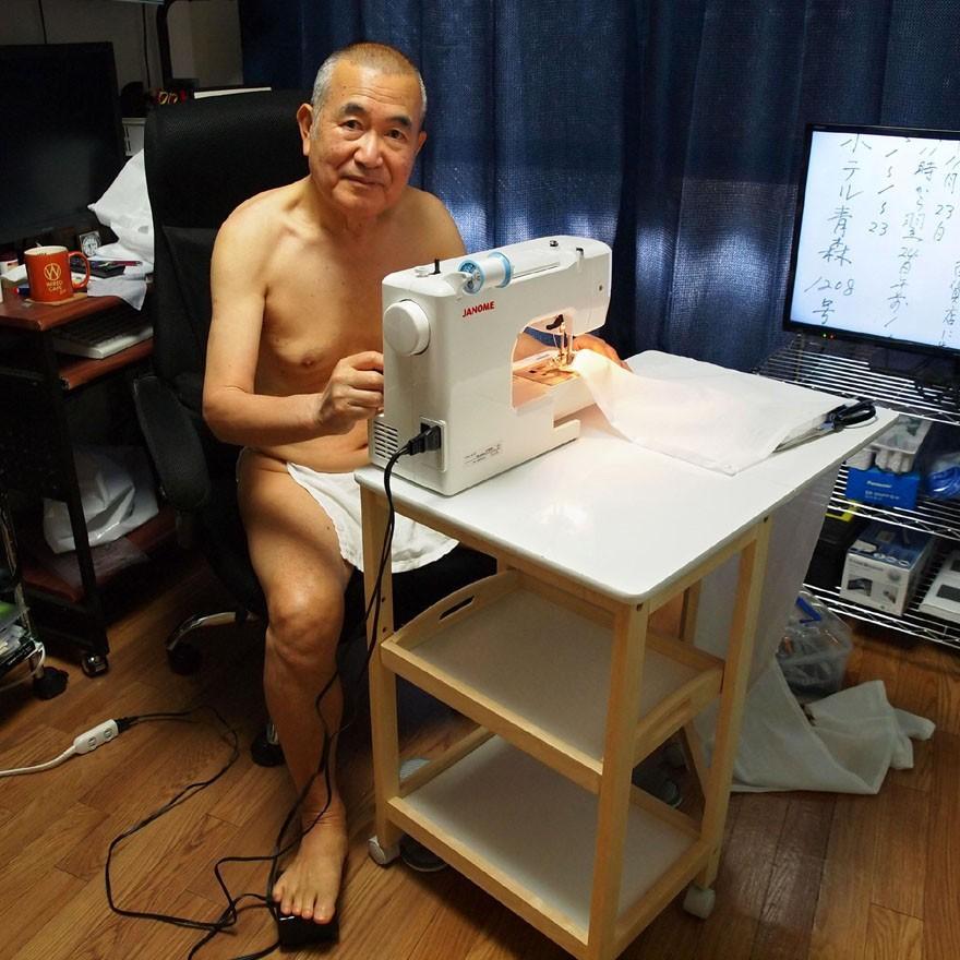 【1b】和田爺謹製越中褌「長寿」(Mサイズ)高級白晒木綿 二枚組 wada-photo 13