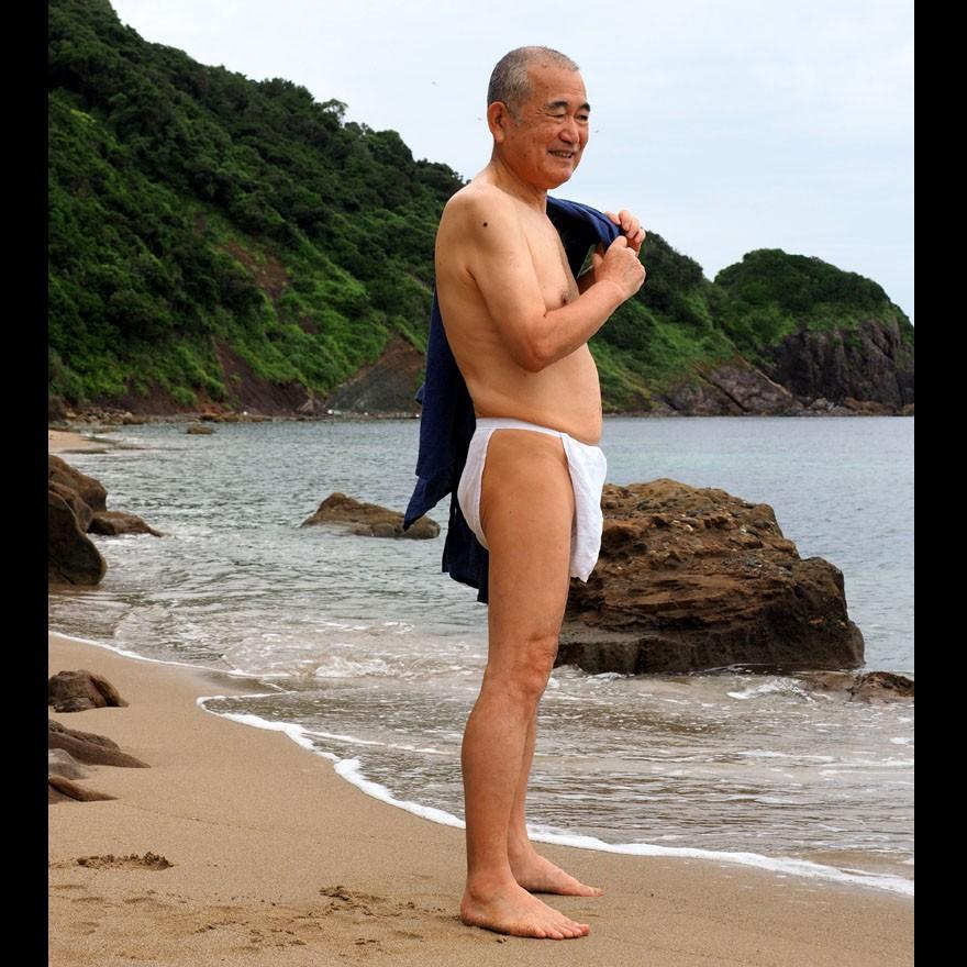 【1b】和田爺謹製越中褌「長寿」(Mサイズ)高級白晒木綿 二枚組 wada-photo 14