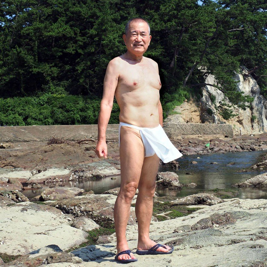 【1b】和田爺謹製越中褌「長寿」(Mサイズ)高級白晒木綿 二枚組 wada-photo 15