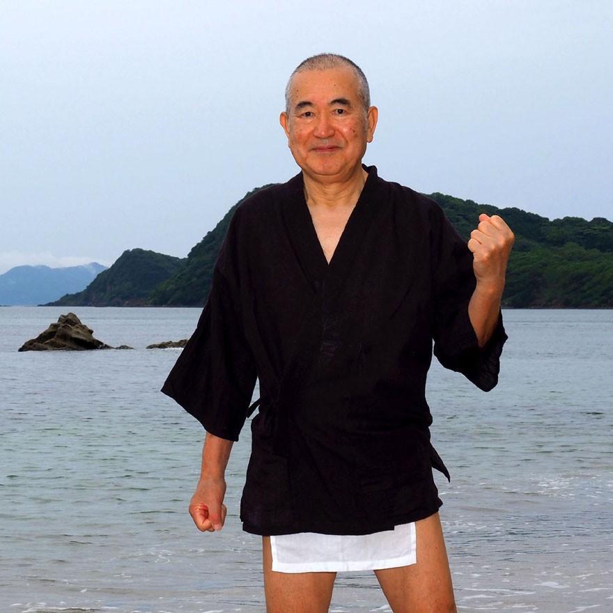 【1b】和田爺謹製越中褌「長寿」(Mサイズ)高級白晒木綿 二枚組 wada-photo 17