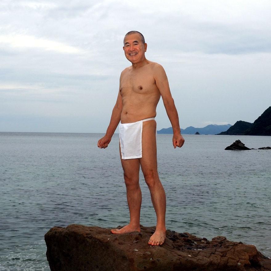 【1b】和田爺謹製越中褌「長寿」(Mサイズ)高級白晒木綿 二枚組 wada-photo 18