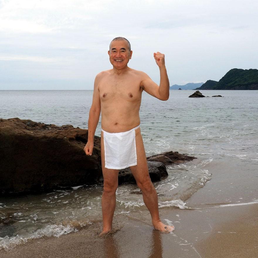 【1b】和田爺謹製越中褌「長寿」(Mサイズ)高級白晒木綿 二枚組 wada-photo 19