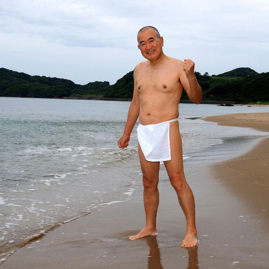 【1b】和田爺謹製越中褌「長寿」(Mサイズ)高級白晒木綿 二枚組 wada-photo 20
