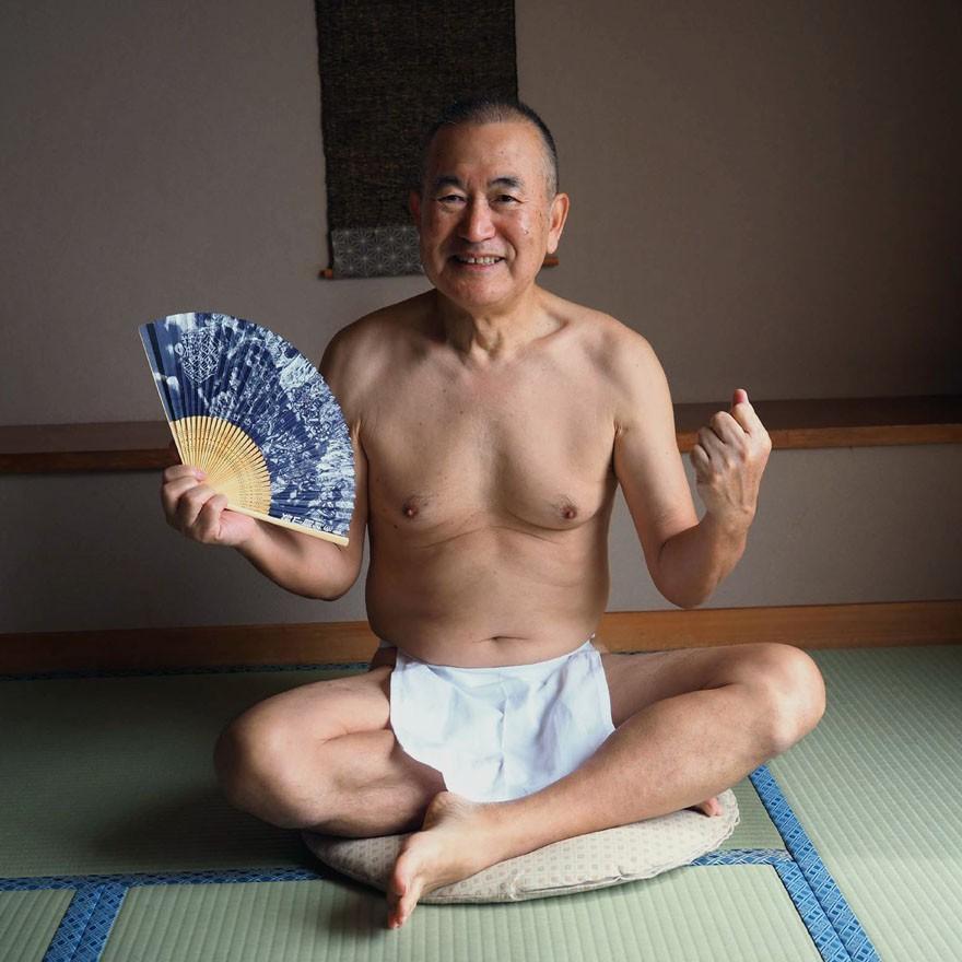 【1b】和田爺謹製越中褌「長寿」(Mサイズ)高級白晒木綿 二枚組 wada-photo 21