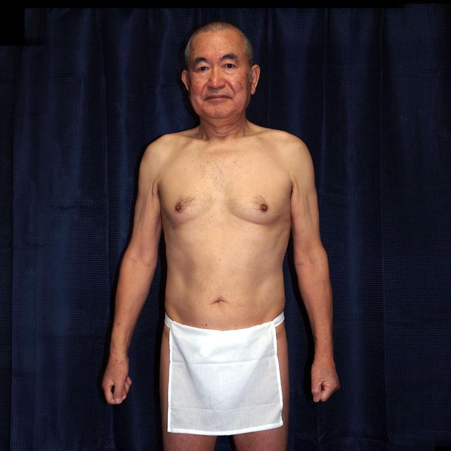 【1b】和田爺謹製越中褌「長寿」(Mサイズ)高級白晒木綿 二枚組 wada-photo 05