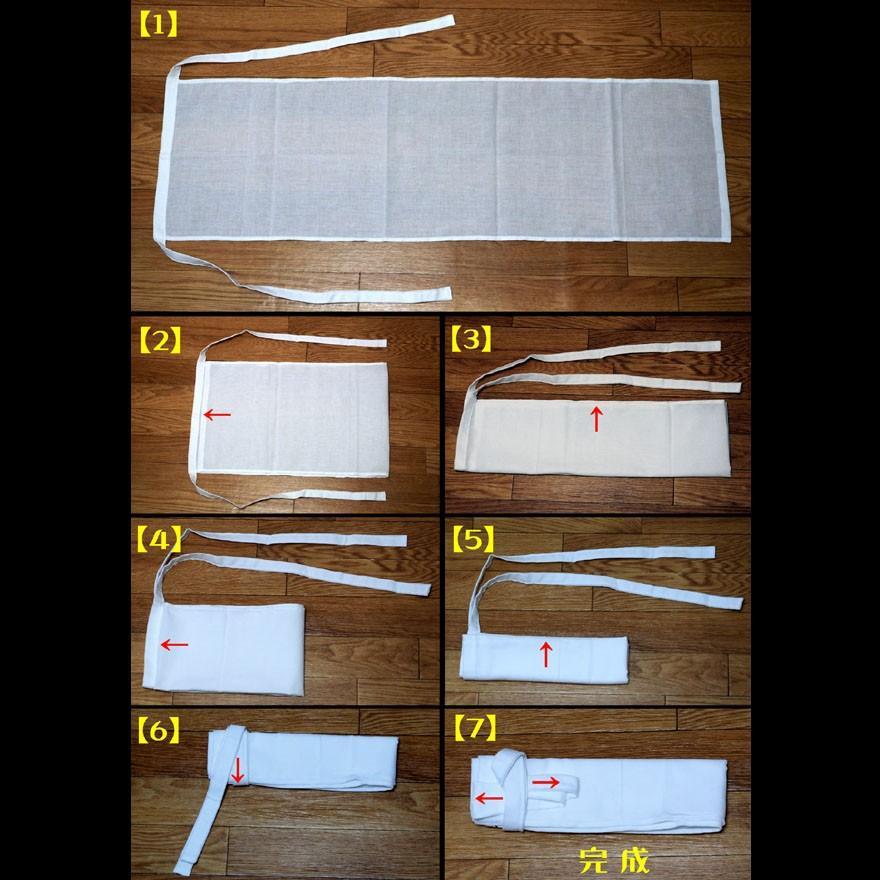【1b】和田爺謹製越中褌「長寿」(Mサイズ)高級白晒木綿 二枚組 wada-photo 10
