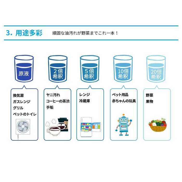 アルカリ電解水 PH13.0 水で取るゾウ+詰替用空スプレーボトル セット wadashouten 06