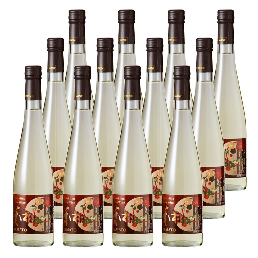 スパークリング梅ワイン 和(YAMATO) 瓶 12本段ボール入りセット スパークリングワイン 瓶 梅 セット お取り寄せ お土産 ギフト プレゼント 特産品 名物商品
