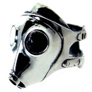 憧れの リング 指輪 シルバー925 シルバー メンズ ブランド ガスマスク, happyshop 1365f839