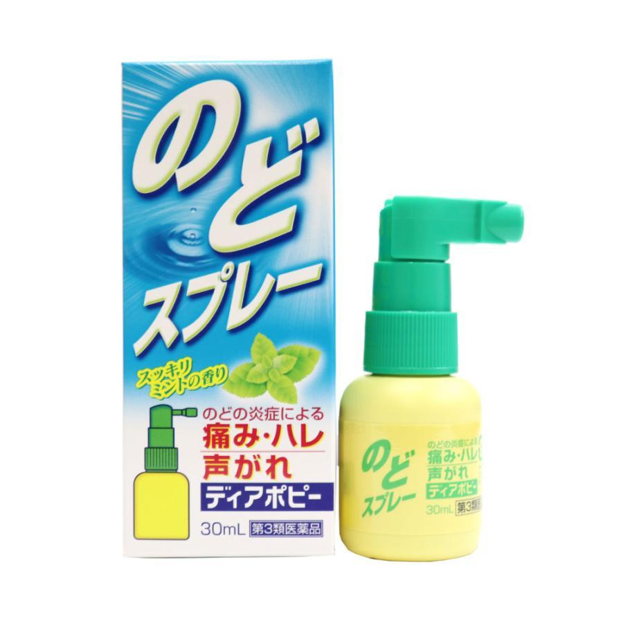 第3類医薬品 のどスプレー ポビドンヨード 喉スプレー ディアポピー 30mL×3個セット 計90mL のどの炎症 痛み 声がれ 不快感 荒れ ミントの香り 送料無料 wagonsale-kanahashi 02