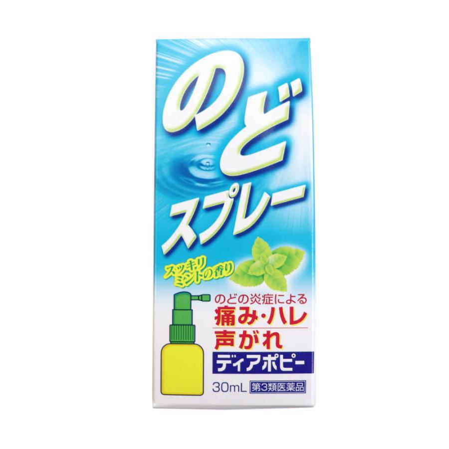 第3類医薬品 のどスプレー ポビドンヨード 喉スプレー ディアポピー 30mL×3個セット 計90mL のどの炎症 痛み 声がれ 不快感 荒れ ミントの香り 送料無料 wagonsale-kanahashi 03