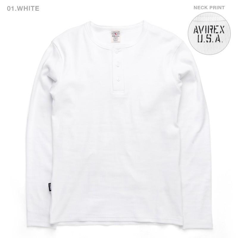 ポイント10倍!AVIREX アビレックス Tシャツ 長袖 ヘンリーネック 6153482 メンズ ロンT カットソー 無地 ブランド 送料無料【クーポン対象外】|waiper|06