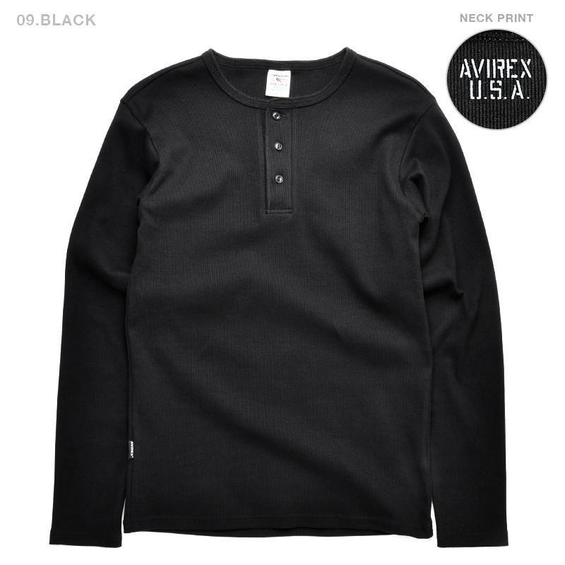 ポイント10倍!AVIREX アビレックス Tシャツ 長袖 ヘンリーネック 6153482 メンズ ロンT カットソー 無地 ブランド 送料無料【クーポン対象外】|waiper|09