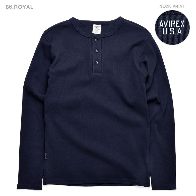 ポイント10倍!AVIREX アビレックス Tシャツ 長袖 ヘンリーネック 6153482 メンズ ロンT カットソー 無地 ブランド 送料無料【クーポン対象外】|waiper|10