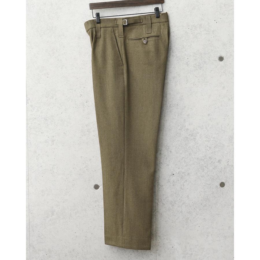実物 新品 デッドストック イギリス陸軍 ALL RANKS No.2 DRESS ウール トラウザーズ オフィサーパンツ ブラウン WOOL100% バラックパンツ【クーポン対象外】|waiper|04