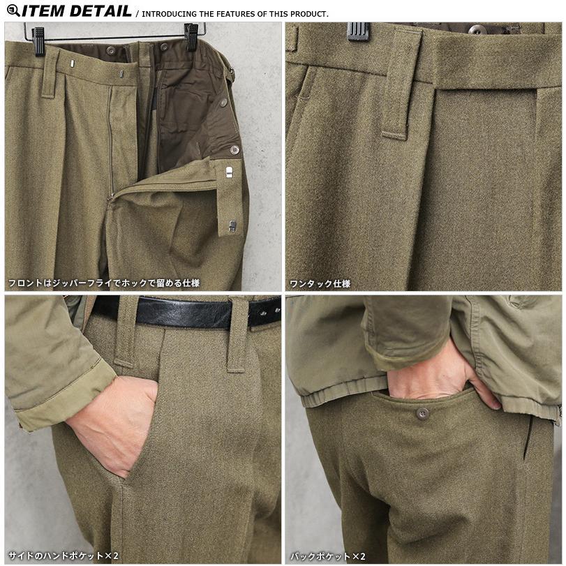 実物 新品 デッドストック イギリス陸軍 ALL RANKS No.2 DRESS ウール トラウザーズ オフィサーパンツ ブラウン WOOL100% バラックパンツ【クーポン対象外】|waiper|06