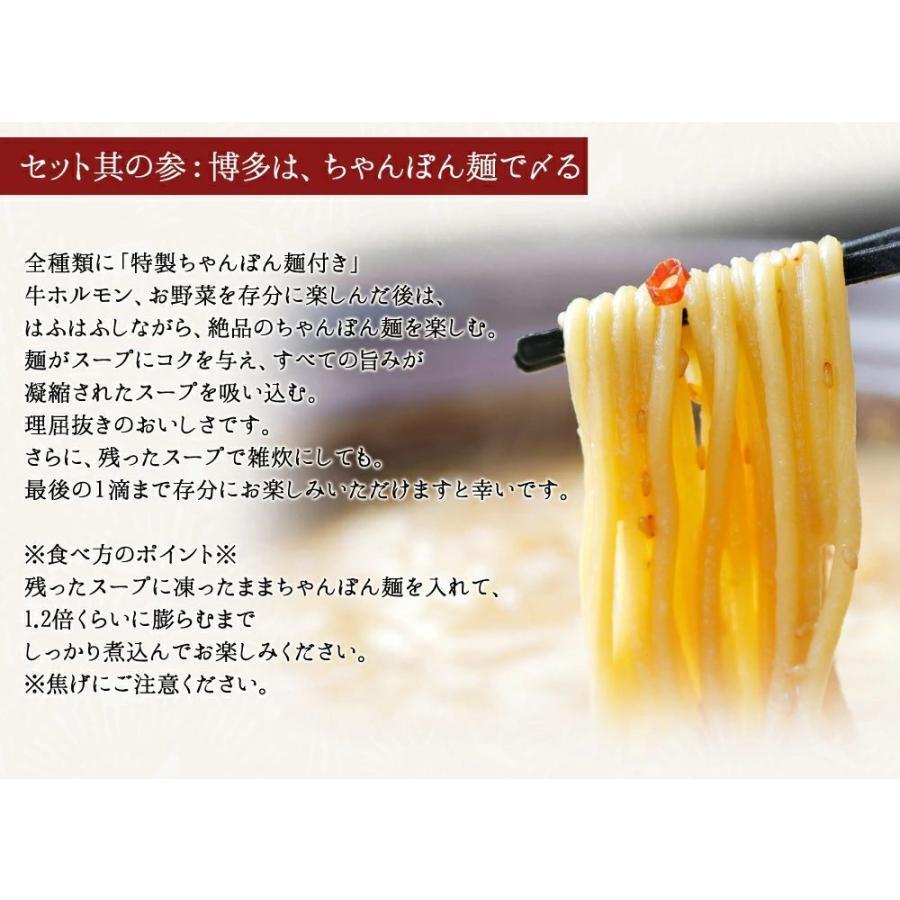 もつ鍋 もつ鍋セット お試しセット (2人前) お取り寄せ鍋セット 牛もつ鍋セット 取り寄せ 肉 料理  国産 牛もつ 博多若杉|wakasugi|05