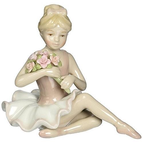 Cosmos 96535 Fine Porcelain Ballerina in ピンク Dress Figurine, 4-1/2-Inch