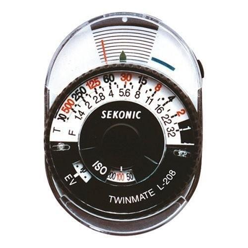 セコニック Sekonic L-208 Twin Mate Light Meter (黒/白い)