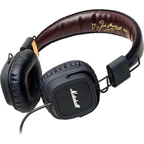 Marshall Headphones マーシャルヘッドフォン Major メジャー FX iPhone対応 (ブラック 黒)