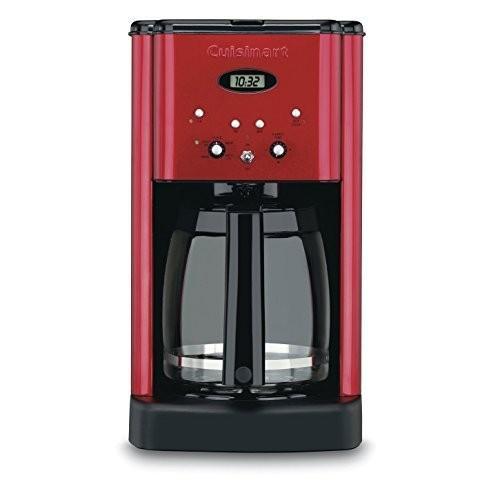 Cuisinart DCC-1200MR 12-CUP Programmable Coffeemaker 12 Cup Metallic 赤 (Certified Refurbished)
