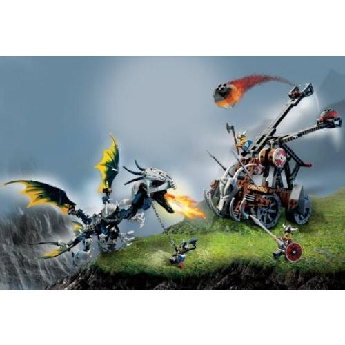 Lego Vikings Set #7021 Double Catapult Versus the Armo赤 Ofnir Dragon by LEGO