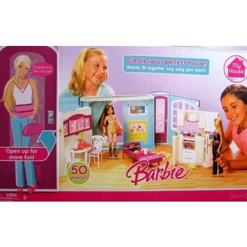 バービー Barbie MY HOUSE 50+ Piece Playset プレイセット w Furniture (2007) ドール 人形 フィギュア