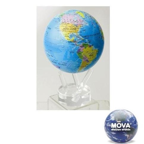 光で回る地球儀 ムーバグローブ MOVA Globe 8.5インチシリーズ(政治地図)