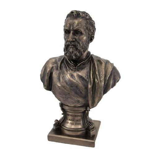 イタリア・ルネッサンスの巨匠 ミケランジェロ・ブオナローティ ブロンズ風 胸像 彫像 彫刻/ Michelangel