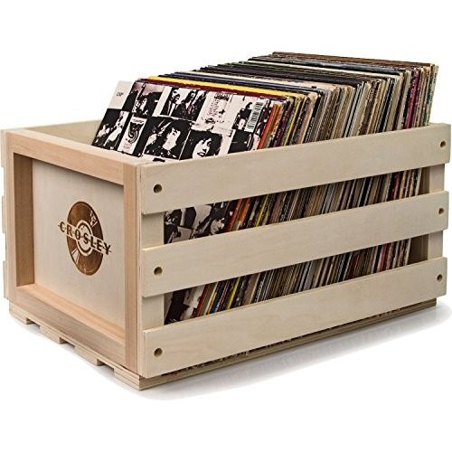 Crosley AC1004A-NA Record Storage Crate Holds up to 75 Albums レコード