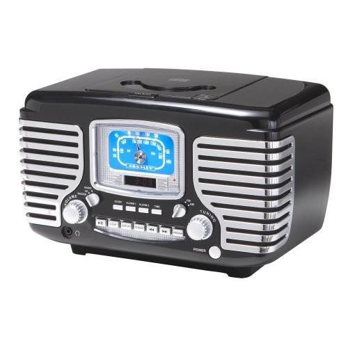 クラウスレイラジオCr612-BKコルセア目覚まし時計/ラジオ/CD(ブラック)