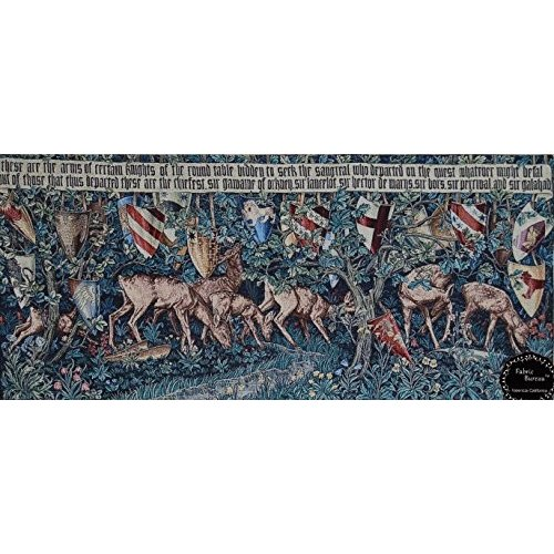 Quest for the Holy Grail tapestries-verdure Deer &シールド55