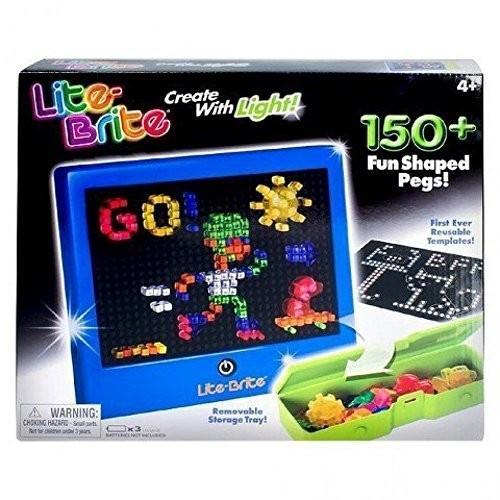 【爆売り!】 ベーシックファン Basic Fun Lite Brite Magic Screen 150 Pegs, 4 Reusable Templates 086000354, シュードリーム 5e8b6c95