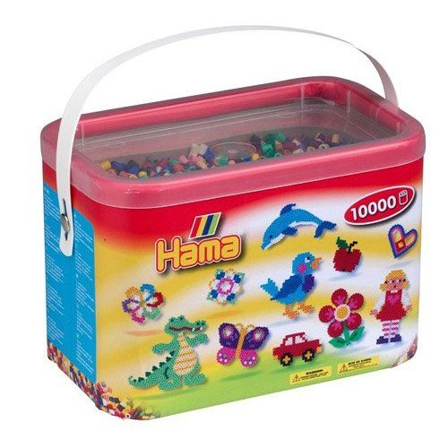 Hama Beads 10,000 Beads in a Bucket