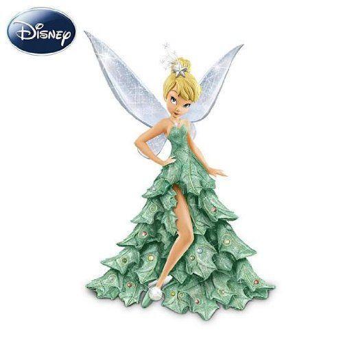 ディズニーフィギュア スワロフスキー ピーターパン ティンカーベル クリスマスツリー Swarovski Disney