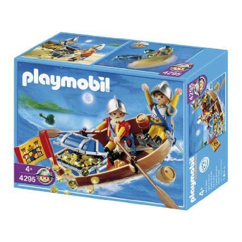 プレイモービル 戦士・バイキング 宝物と運ぶ兵士とボート 4295