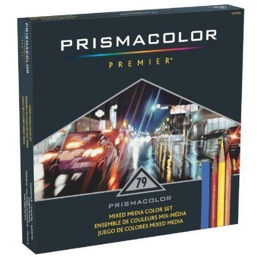 SANFORD Prismacolor プリズマカラーPremier Mixed Media Set,Assorted 油性 水彩 色鉛筆 79色セット